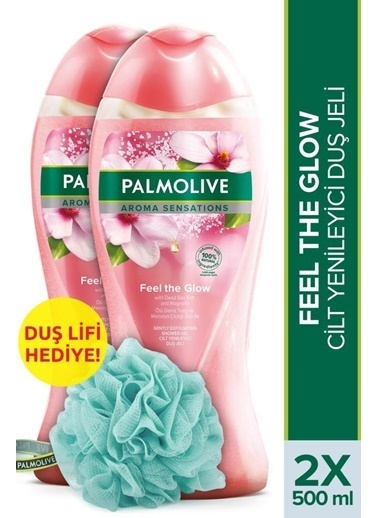 Palmolive Palmolive Aroma Sensations Feel Glow Banyo 2'li Duş Jeli 500 ml ve Duş Lifi Hediye Renksiz